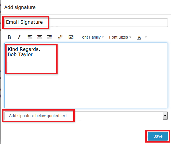 1and1 Email Signature