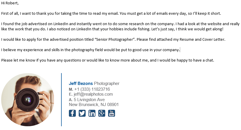 Good Email Asking for Internship