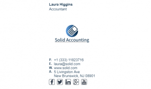 Email Signature Example for Accountant