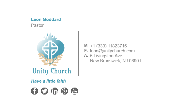 Email Signature Example for Church