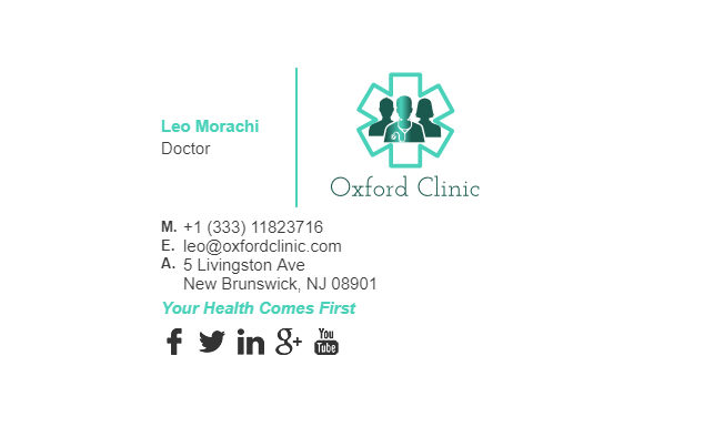 Email Signature Example for Doctor