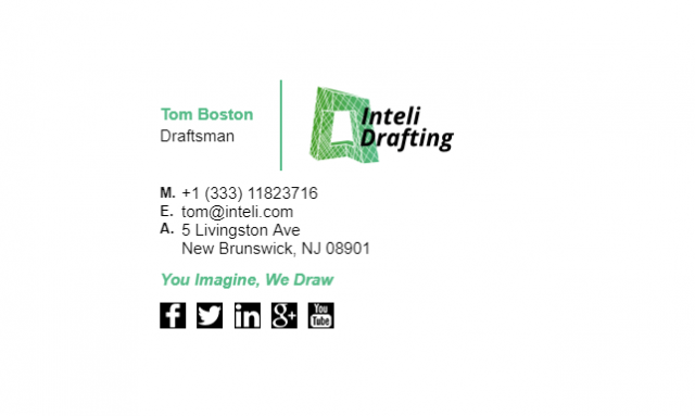 Email Signature Example for Draftsman
