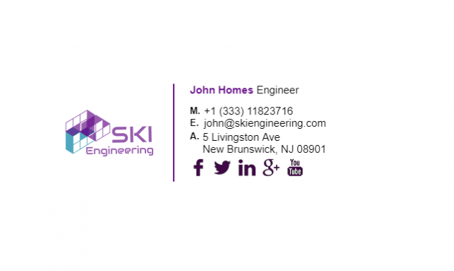 Email Signature Example for Engineer