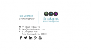 Email Signature Example for Event Organizer