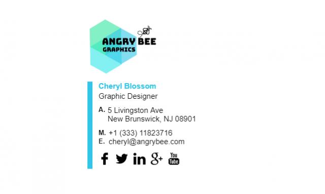 Email Signature Example for Graphic Designer