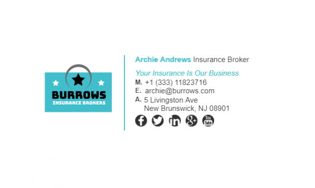 Email Signature Example for Insurance Broker