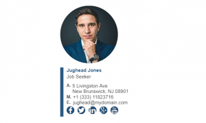 Email Signature Example for Job Seeker