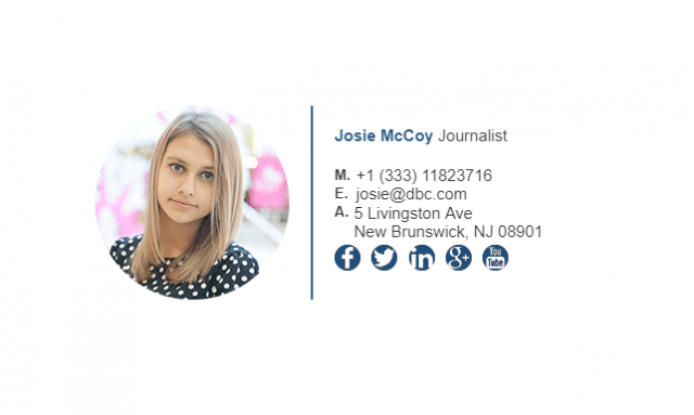 Email Signature Example for Journalist