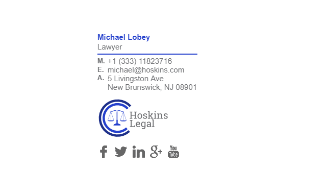Email Signature Example for Lawyer
