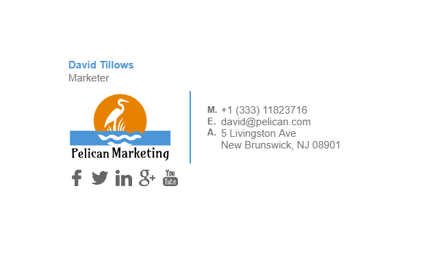 Email Signature Example for Marketer