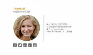 Email Signature Example for Nurse