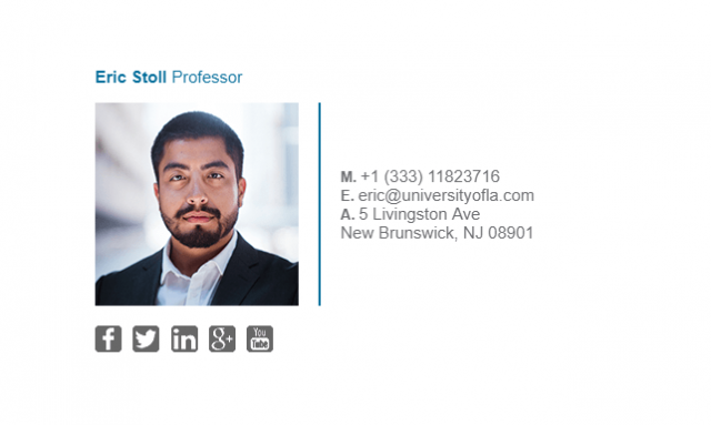 Email Signature Example for Professor