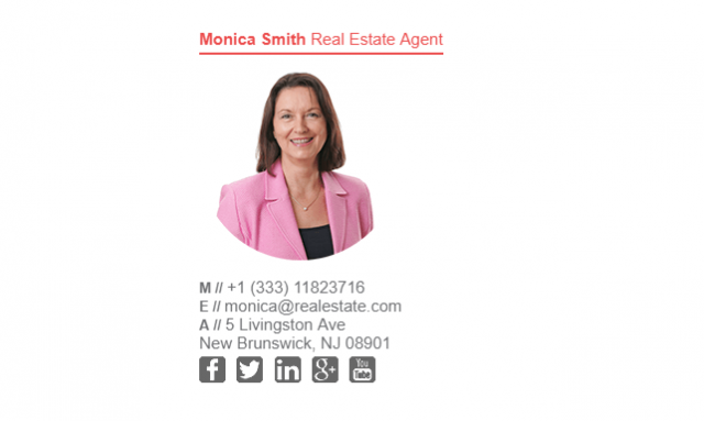 Email Signature Example for Real Estate Agent