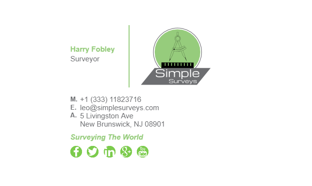 Email Signature Example for Surveyor