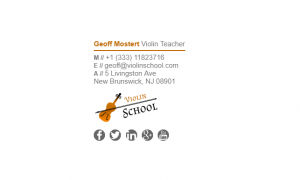 Email Signature Example for Teacher