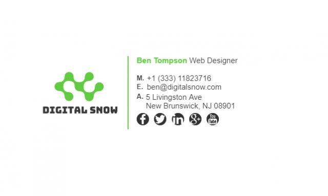 Email Signature Example for Web Designer