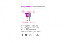 Email Signature Example for Wedding Planner