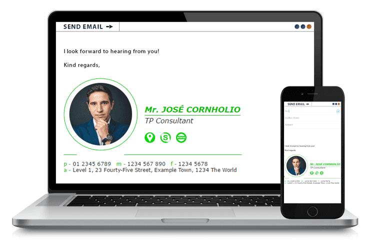 Jose Cornholio - Free Professional Email Signature Template
