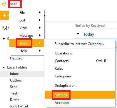 how to set up gmx email on em client