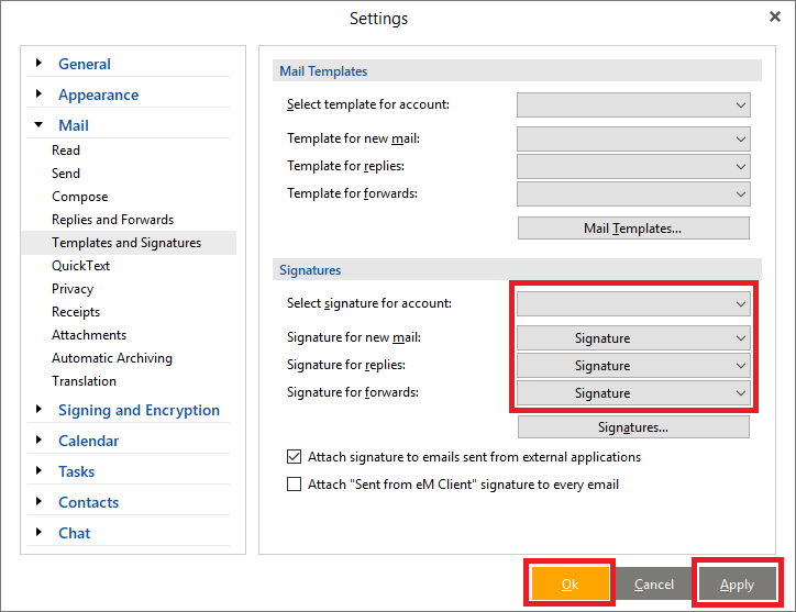 How To Add An Email Signature In Em Client Zippysig