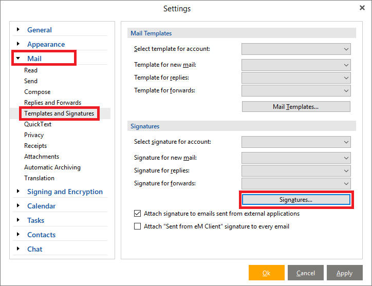 how to add signature in win live mail