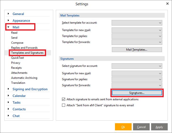 eM Client Email Signature