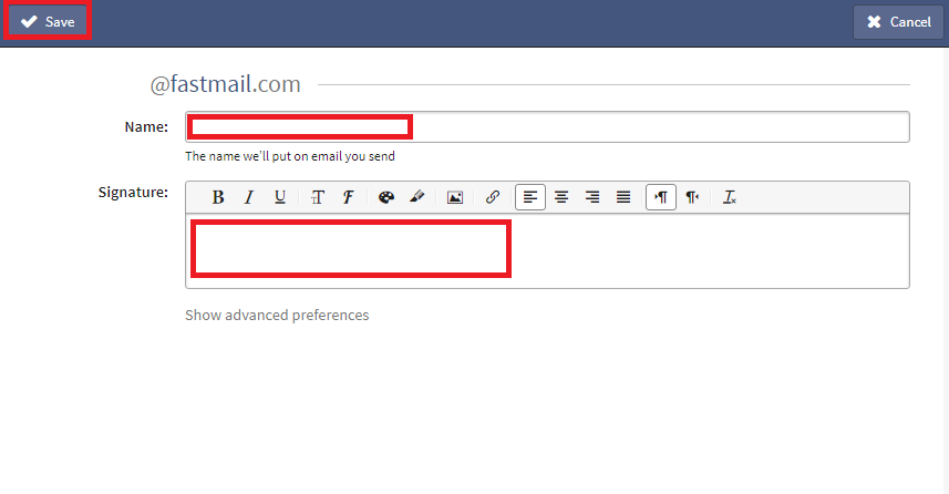 Fastmail Email Signature