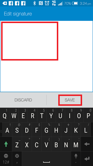 Mail App Android Email Signature