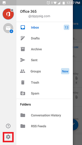 Email Signature Outlook Android