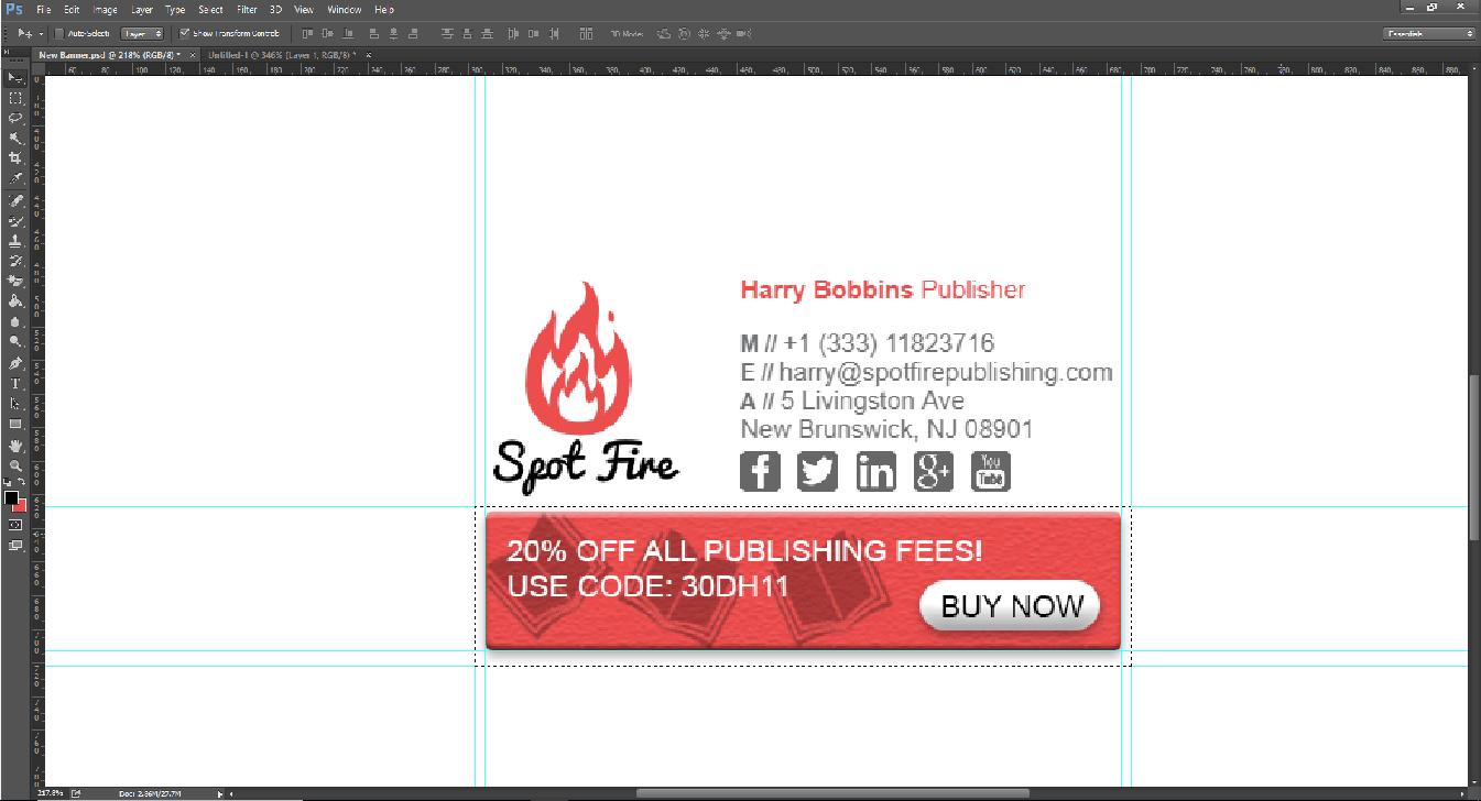 Photoshop Email Signature Banner