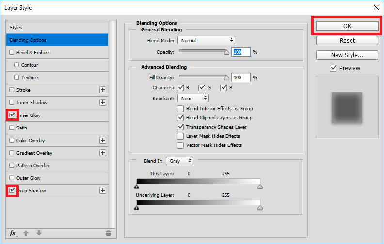 Photoshop Email Signature Banner Layer Properties