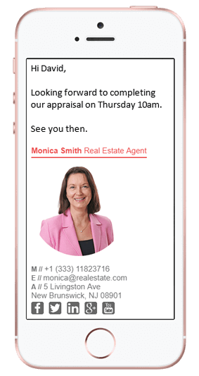 Realtor Email Signature Mobile Phone