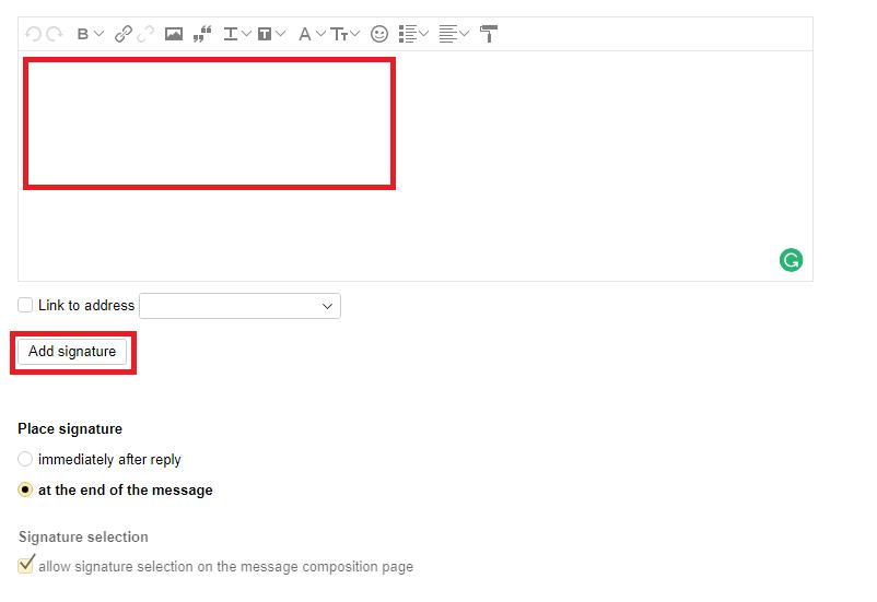 Yandex Email Signature