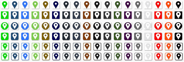 ZippySig Free Social Icons Map