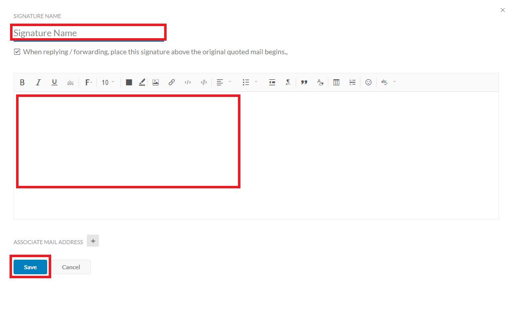 Zoho Email Signature